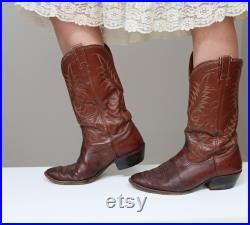 1960's Nocona Bullhide Rancher Cowboy Boots Men's Size 9 W to 9-1 2 Women's Size 10-1 2 W to 11 Leather Western Boots US Made
