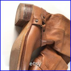 1970s LEVIS ORANGE TAB Western Harness Boot Size U.S. 7 1 2