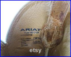 Ariat Smooth Quill Ostrich Ranchero Cowboy Boots Style No. 10012129, Original Vintage Mens Western Wear Size 10D Made in Mexico, 12.5 Shaft