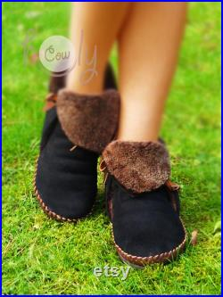 Black Sheepskin Moccasins, Womens Moccasins, Moccasins Women, Moccasins Men, Leather Boots, Mens Moccasins, Moccasins, Moccasin Boots