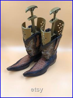Brown Leather cowboy western style Boots men s size 12