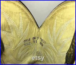 Brown Lizard Skin Dan Post Cowboy Boots soze 8 1 2 D or women's size 10
