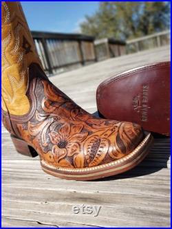Bulldog Bitono Men's Handtooled leather boots