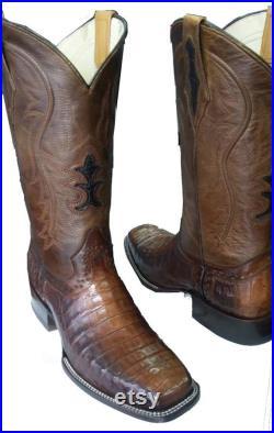 Crocodile square toe boot