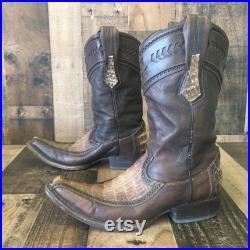 Cuadra Alligator Cowboy Boots Mens 9 US