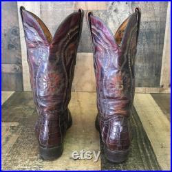 Cuadra Vtg Caiman Cowboy Boots Mens 7