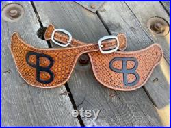 Custom Leather Spur Straps