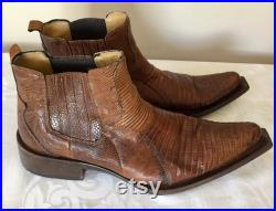 Damy Italy Rare Snakeskin Men s Ankle Boots Western Boots