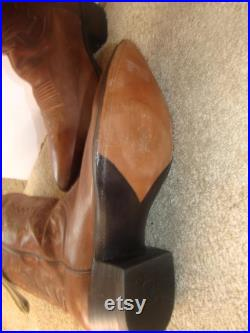 Dan Post Men Cowboy boots size 9 D Medium shade of brown pointed toe Never Worn excellent condition and Vintage from 1995