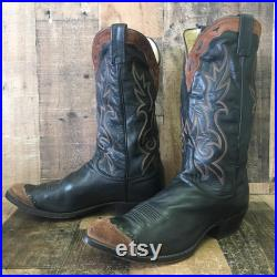 Dan Post Suede Wingtip Cowboy Boots Mens 10 D