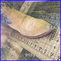 Dan Post Vtg Suede Cowboy Boots Mens 8 D