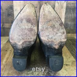 Dan Post Vtg Teju Lizard Cowboy Boots Mens 10 D
