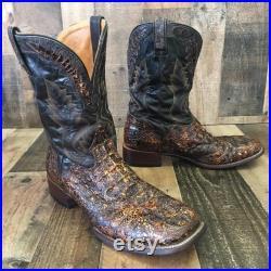 El Dorado Handmade Caiman Exotic Leather Cowboy Boots Mens 13d