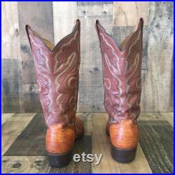 El Dorado Handmade Ostrich Leg Cowboy Boots Mens 7 d
