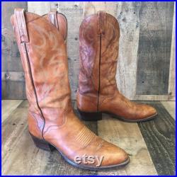 El Dorado Vtg Handmade Cowboy Boots Mens 9.5 d