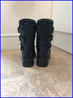 Eu 38 Deadstock Vintage Black New Rock Boots