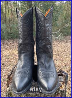 FRYE Boots Men s Size 11D Black Leather Country Western Cowboy Rodeo Bruce Pull On