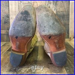 Frye Vtg Suede Cowboy Boots USA Made Mens 10 D