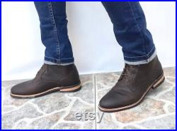 Handmade leather boots for men, men leather boots, motorcycle boots, working boots, men boots,hiking boots,chef boots, sous chef boots