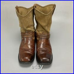 Harley Davidson Square Toe Leather Harness Boots, Western Style Motorcycle Biker Boots, Soft Slouch Calf, Very Comfortable, Mens Size 12M