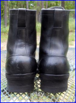 Hathorn Boots (White of Spokane USA) Leather PACKER Boots Black Logger Western work 7.5 Lace Up Kiltie Mens sz 10.5