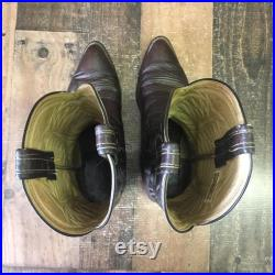 Hondo Vtg Cowboy Boots Mens 9.5 D