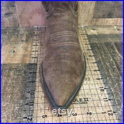 Justin 30096 Suede Cowboy Boots Mens 10 D