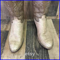 Justin Vtg Snakeskin Cowboy Boots Men s 11 D