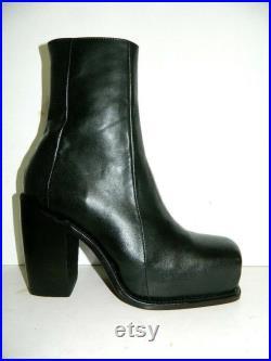 Knee high version of Men high heel boots,Made to order square toe hidden platform welt construction all men size available