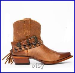 Leather cow boy shoe westren shoe