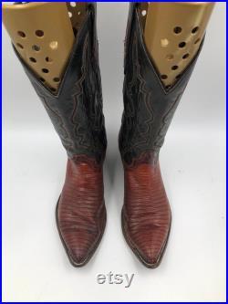 Lizard leather Cowboy Boots man size 10