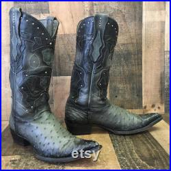 Los Altos Pointed Toe Full Quill Ostrich Cowboy Boots Mens 11 EE