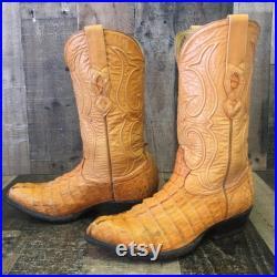 Los Altos Vtg Caiman Cowboy Boots Mens 8.5 EE