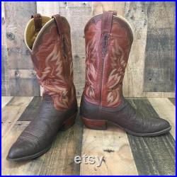 Lucchese 2000 Exotic Leather Cowboy Boots Men s 9 d