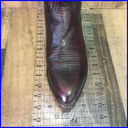 Lucchese 2000 Smooth Ostrich Cowboy Boots Mens 12 D