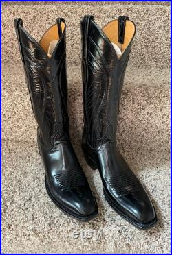Lucchese Classic Black Goat Western Boot Men's