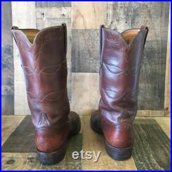 Lucchese Classics Handmade Vtg Cowboy Boots Mens 9 D