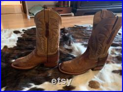 Lucchese Ostrich Leather Men s Boots 9 D