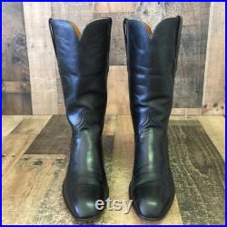Lucchese Since 1883 Vtg French Toe Cowboy Boots Mens 9 D