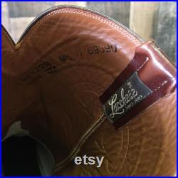 Lucchese Since 1883 Vtg Roper Cowboy Boots Men s 8.5 D