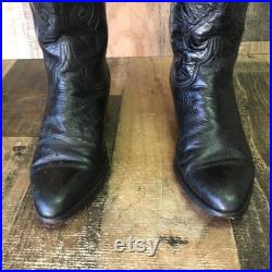 Lucchese Since 1883 Vtg Smooth Quill Ostrich Cowboy Boots Men s 7.5 D