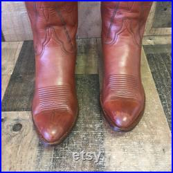 Lucchese Vtg San Antonio Cowboy Boots Mens 12 D