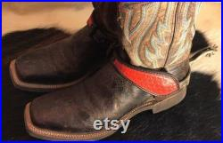 Made to Order Western Leather spur straps, free domestic shipping