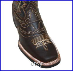 Men's Genuine Leather Cowboy Rodeo Western Boots Animal Print Best Quality