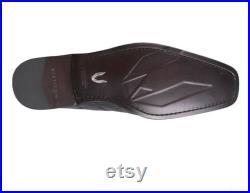 Men's Vestigium Smooth Ostrich Chelsea Boot Black Cherry Handcrafted
