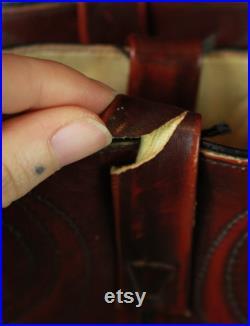 Men's Vintage Acme Burgundy Leather Cowboy Boots 9