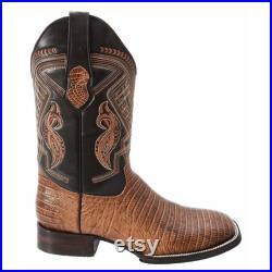 Men's Western Boot Botas de Hombre, Bota Rodeo Armadillo Imitaci n 713
