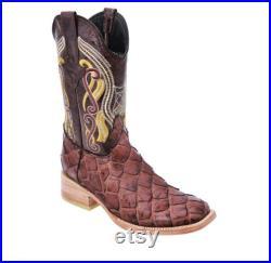 Men's Western Boot Botas de Hombre (Monster Fish) JB136