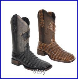 Men's Western Boots (Alligator Back) Botas de Hombre (Cayman Lomo) P10-725