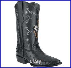 Men's Western Boots Botas Vaqueras de Hombre (Avestruz) 901
